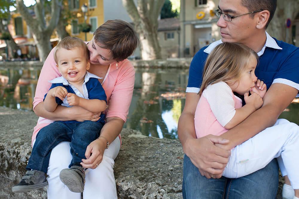 Moment de détente en famille