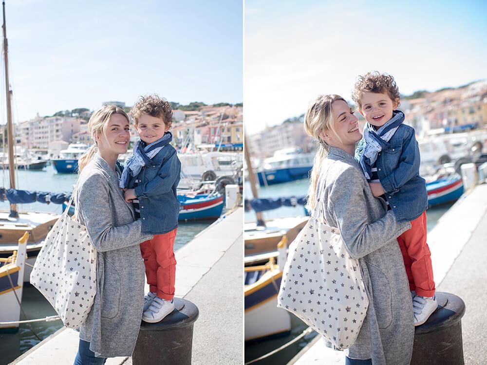 Portrait d'enfant sur le port de Cassis