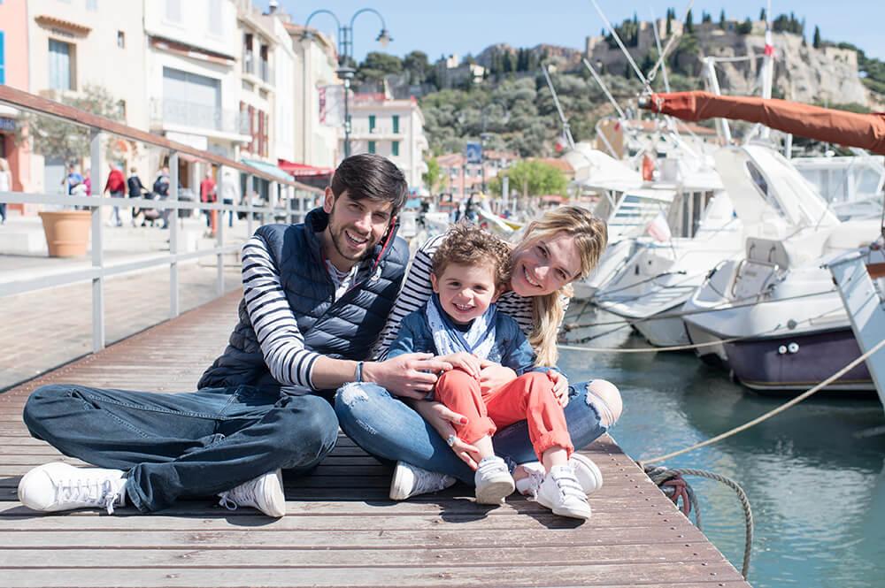 Portrait de famille à Cassis