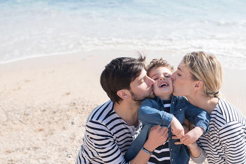 Eclats de rires sur la plage de Cassis.