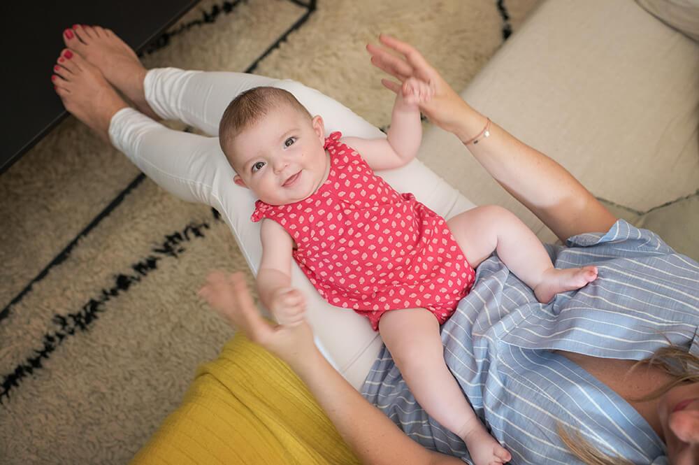 Portrait bébé vue du dessus