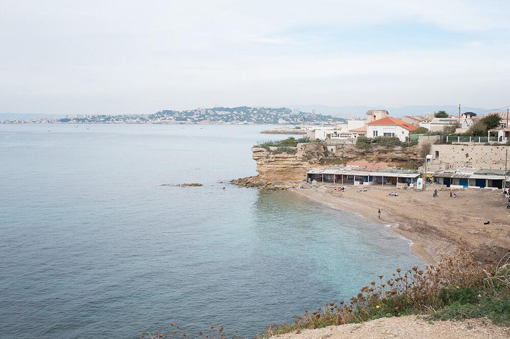 Plage de la Verrerie à Marseille
