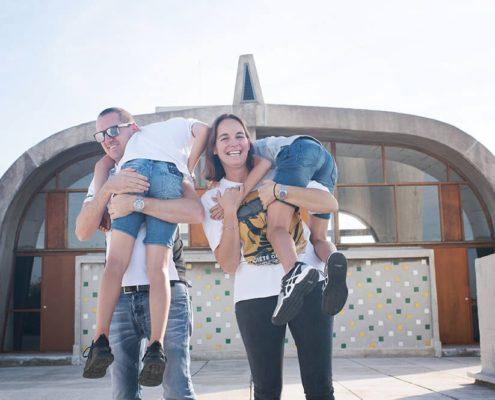 Séance photo famille au Corbusier