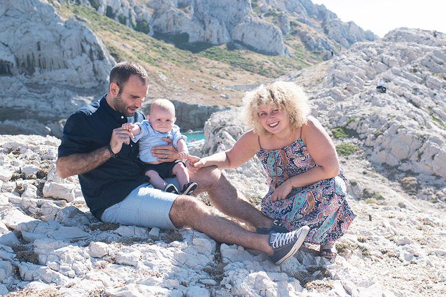 Séance photo famille aux Goudes