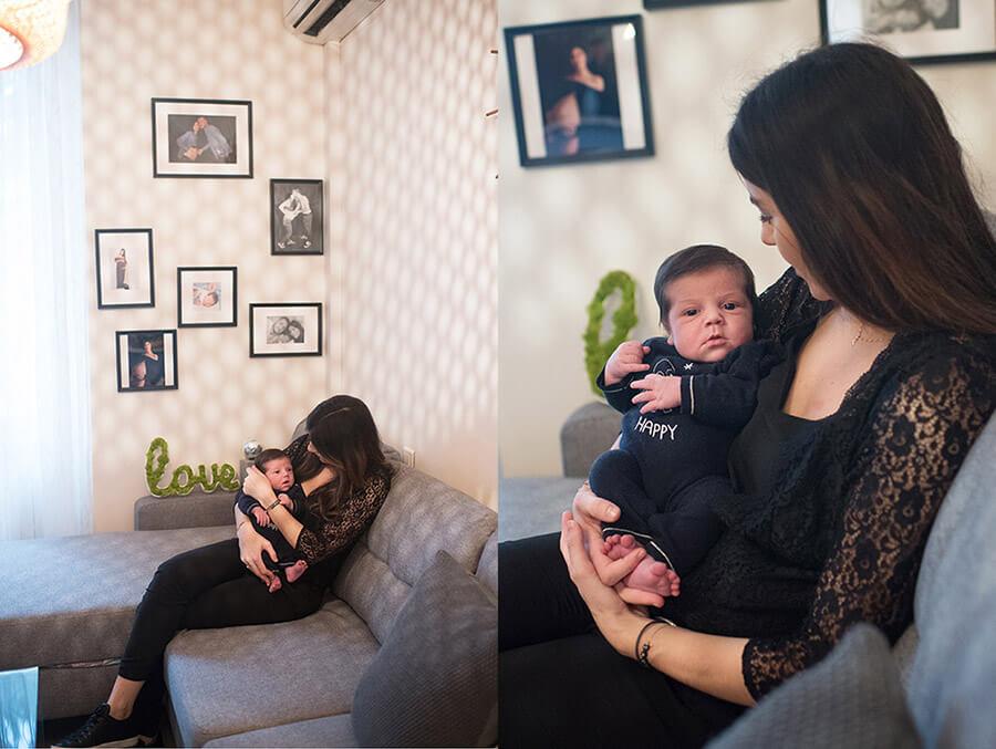 Nouveau-né dans les bras de sa maman.