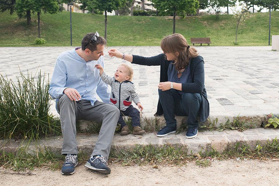 Séance photo au parc du 26ème centenaire. Portrait famille Marseille