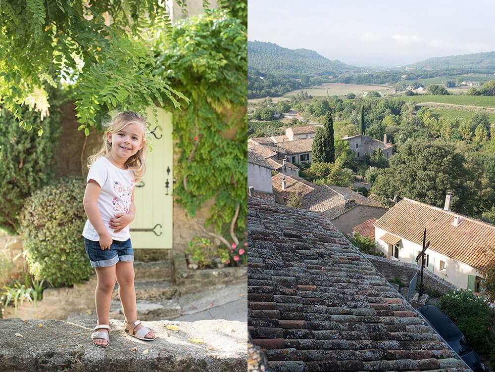 Séance photo famille Luberon. Les toits du Luberon. Vue panoramique.
