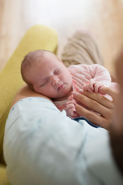 Bébé en plein sommeil.