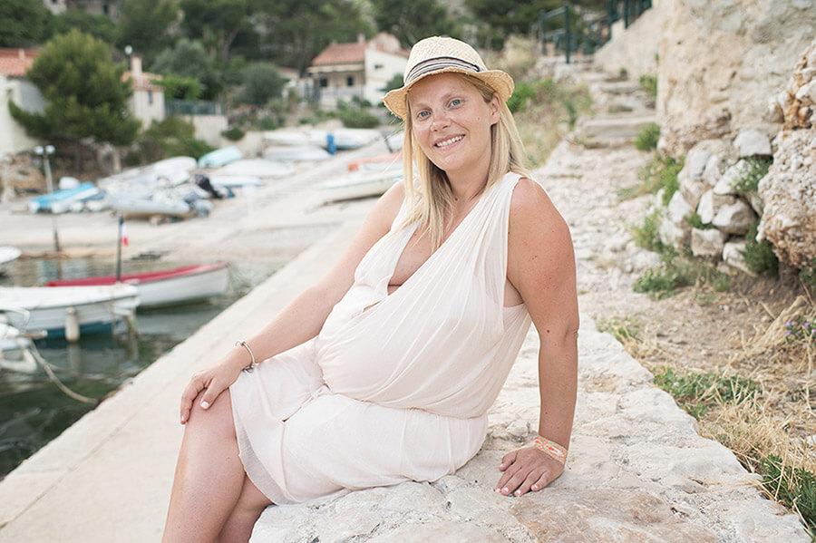 Séance photo grossesse à Sormiou.