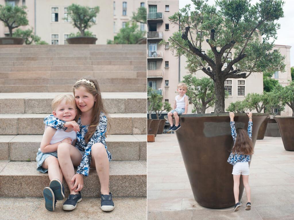 Portrait avec mon frère et un olivier Géant.