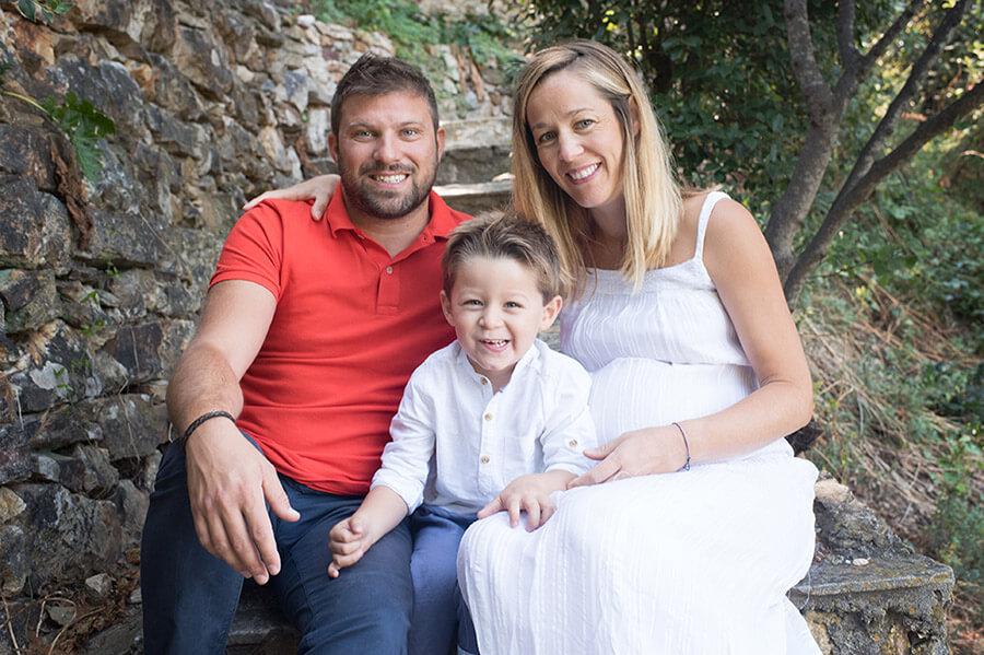 Séance photo famille en extérieur, région PACA