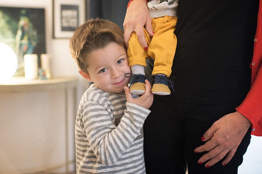 Photo à la hauteur d'un enfant de quatre ans.