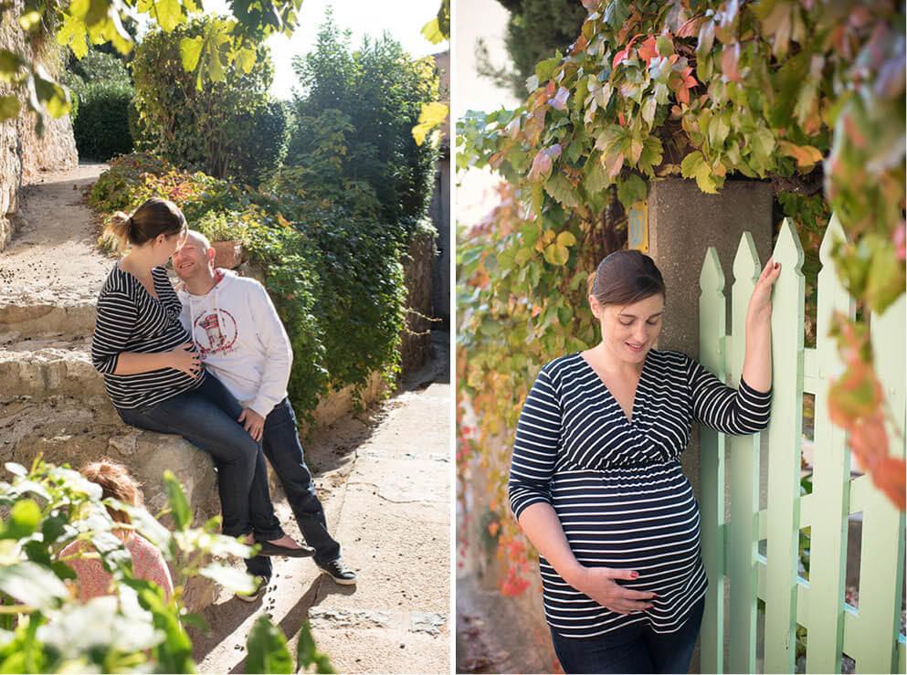 Couleurs chaudes pour le portrait d'une maman enceinte.