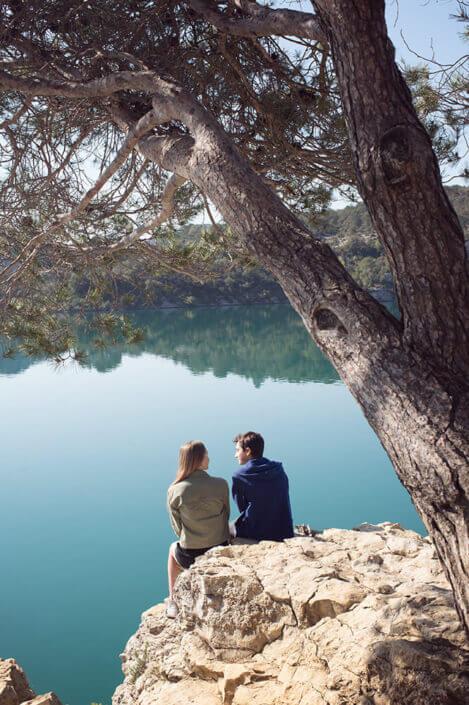 Deux ados au lac d'Esparron